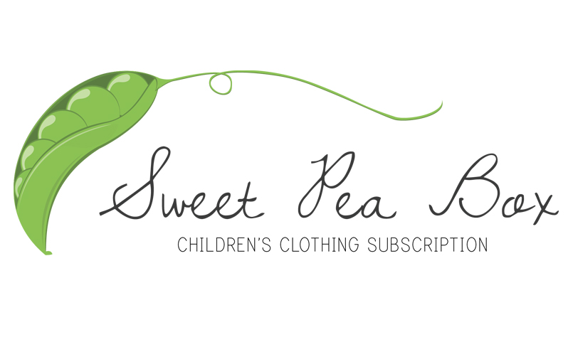 Decorative Sweet Pea with the text Sweet Pea Box - Children's Clothing Subscription